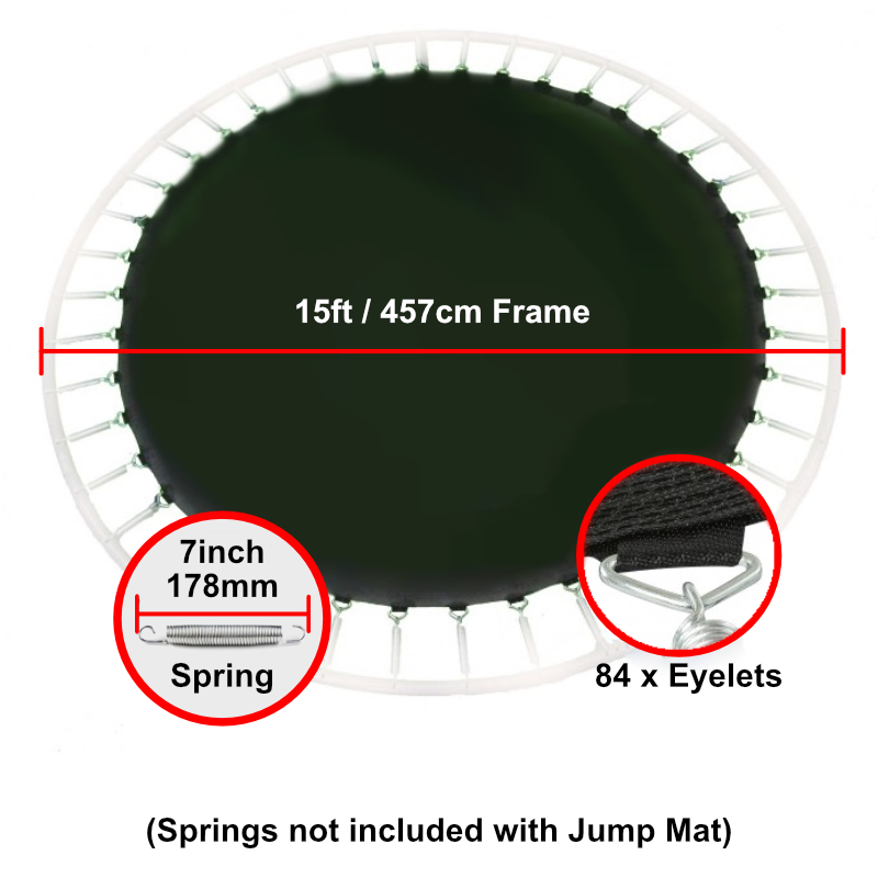 """Jump Mat for 15 ft Trampoline Frame with 84 eyelets (for 7"""" springs)"""