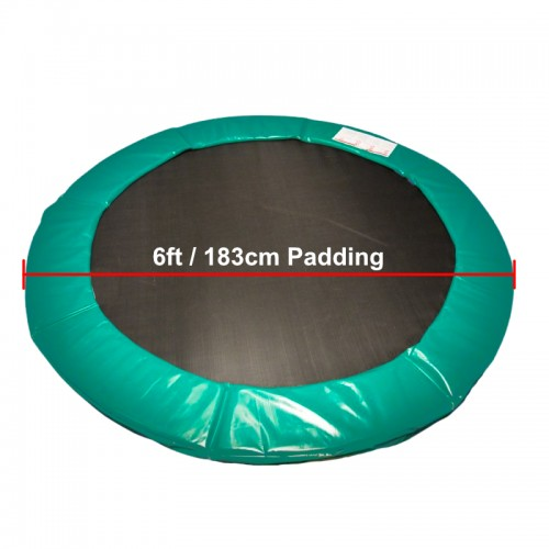 6 ft Super Premium Trampoline Safety Padding (Green)