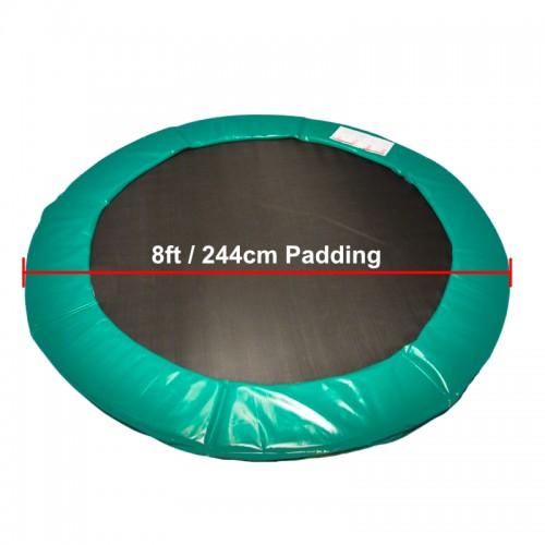 8 ft Super Premium Trampoline Safety Padding (Green)