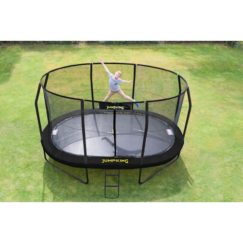 JumpKing 10ft x 15ft Oval JumpPod Trampoline