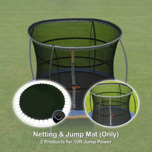 10 ft Jump Mat and Netting (2 products for Jump Power Trampoline)